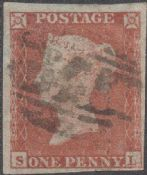 1852 1d Red SG8a Plate 150 'SL'